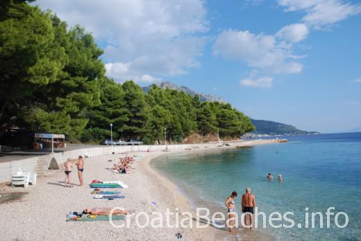 Podgora main beach